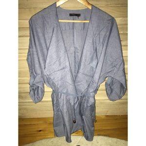 Jackets & Blazers - Chambray fall jacket (austin boutique) size M